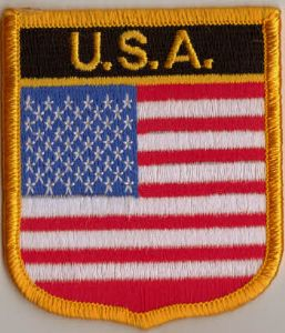 USA Embroidered Flag Patch, style 07.